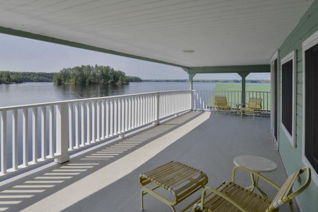 Boathouse porch on Lake Muskoka